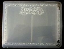 Sizzix Large 4.5x5.75in Embossing Folder FRAME POSTCARD fits Cuttlebug & Wizard