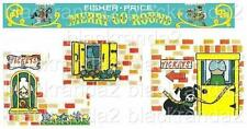 VINTAGE FISHER PRICE LITTLE PEOPLE 111 MERRY-GO-ROUND REPLACEMENT LITHOS STICKER