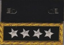 Civil War General U S Grant Shoulder Boards - Straps w/Frock Clips & Free Coin