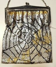 Whiting & Davis VINTAGE?  BAG PURSE METAL MESH GOLD SILVER SPIDER WEB RARE!