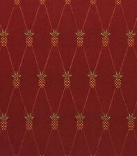 """WAVERLY TROPICAL PINEAPPLE RED D4080 JACQUARD UPHOLSTERY FABRIC BY YARD 56""""W"""