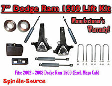 "2002 - 2008 Dodge Ram 1500 2WD 7"" Front 4"" Rear Spindle Lift Kit WITH SHOCKS"