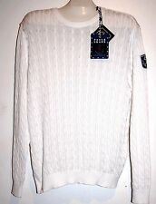 Paul & Shark Yachting Knitted Cotton Men's Italy White Shirt Sweater Sz XL $509