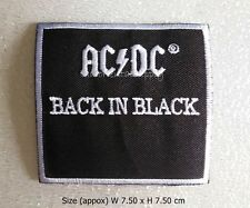 AC/DC Embroidered Iron on Patch Rock and Roll Band Badge Logo Music DIY