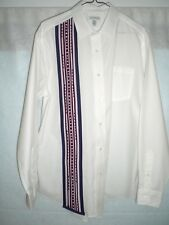 Dress Shirt, Oklahoma Style Appliqued Dress Shirt , Lg