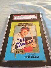Stan Musial DECEASED Autographed '80 Baseball Immortals SGC CERT PERS OBTAINED