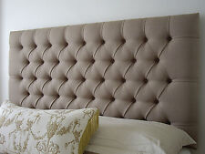 NEW BED HEAD KING SINGLE SIZE UPHOLSTERED BEDHEAD / HEADBOARD DIAMOND PLEATED