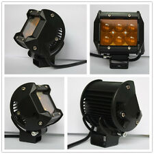 YELLOW Car Auto Motorcycle Driving Fog Lamp Spot Work Light Bar 18W 6LED Offroad