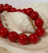 Natural Root Stem Coral Dark Ox Blood Red Treated AAA Quality Bead Strand 8 MM