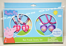 PEPPA PIG NECKLACE AND BRACELETS BEST FRIENDS JEWELRY SET STOCKING STUFFER GIFT