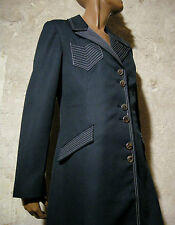 CHIC VINTAGE MANTEAU IMPER 1970 VTG COAT 70s SEVENTIES RETRO (40/42)