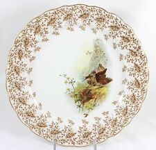 HAND PAINTED ANTIQUE AESTHETIC CABINET PLATE ROYAL WORCESTER CHINA W6094 BIRDS