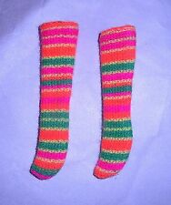 Vintage Mod 1968 Skipper Skimmy Stripes Orange Socks