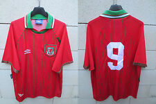 VINTAGE Maillot PAYS DE GALLES WALES shirt UMBRO 1994 Ian RUSH n°9 jersey XL