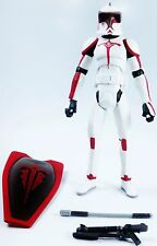 Star Wars: The Clone Wars 2011 RIOT CONTROL CLONE TROOPER (CW49) - Loose
