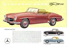 Mercedes-benz 190 sl roadster 1958-62 original uk sales brochure pub. no. P316/8