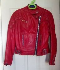 VINTAGE LEWIS LEATHERS AVIAKIT LADIES LEATHER MOTORCYCLE,BIKER JACKET, SIZE 38