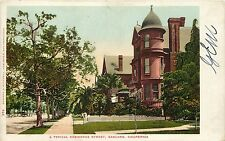 c1905 Postcard; Oakland CA, A Typical Victorian Residence Street, Alameda County