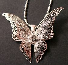 3D Alloy Butterfly Pendant Necklace w/Free Jewelry Box and Shipping