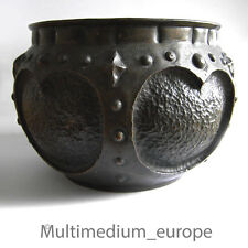 Kupfer Blumen Über Topf Handarbeit 1910 Antique Arts and Crafts copper pot