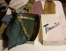 009 Vintage Lot of Fabric & Textiles in a Tommies Inc Staunton Virginia Box