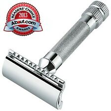 Merkur 34C HD Heavy Duty Chrome Plated Short Handle Double Edge Safety Razor