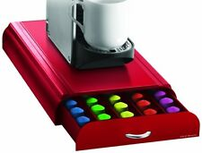 Mind Reader Anchor 50 Coffee Pod Capsule Storage Drawer Nespresso Red Holder