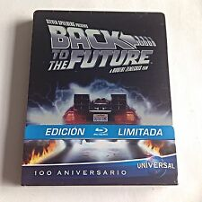 Back to the Future Blu-Ray Steelbook [Spain] 100 Anniversary Edition! Rare! OOP!