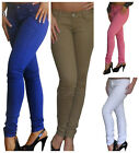 Ladies Jeans Skinny Fit Womens Black Stretchy Coloured Jeans Size 6 8 10 12 14