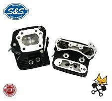 S&S 76CC PERFORMANCE REPLACEMENT CYLINDER HEADS HARLEY 84-'99 EVO BLACK 106-6064