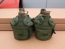 US MILITARY 1 QT OD CANTEENS & OLIVE DRAB COVERS [Qty/4] ~GENTLY~USED~