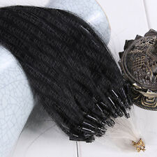 "6A Micro Loop Ring Human Hair Extensions Brazilian Virgin Hair Straight16""-26"""