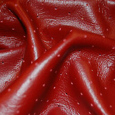 19 SF Red Upholstery  Leather Cow Hide Skin Piece  X30G