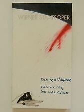 Wiener Staatsoper Richard Wagner erster Tag die Walküre Programmheft