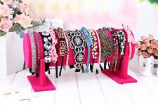 ROSE Velvet Hair Band Headband Holder Retail Shop Display Stand Rack Holder 14''