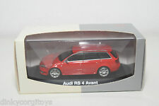 MINICHAMPS AUDI RS4 RS 4 AVANT A4 B7 RED MINT BOXED RARE SELTEN RARO