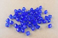 New 200Pcs 6mm Dark Blue Acrylic Spacer Loose Bicone Beads Charms