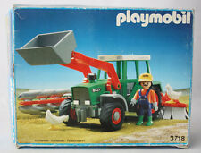 VERY RARE VINTAGE 1992 PLAYMOBIL 3718 FARM TRACTOR LOADER NEW SEALED CONTENTS !