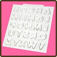 Domed Upper Case Alphabet Silicone Mould Mat Cake Decoration Sugarcraft Katy Sue