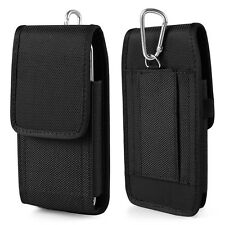 Black Nylon Holster Belt Clip Case for iPhone 7 Plus /Samsung Galaxy S7 Edge