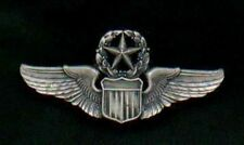 US Air Force Command Pilot Wings Badge 1/2 size or mini with silver finish