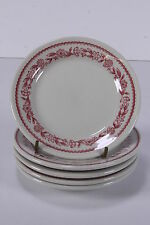 "5 Buffalo China 1953 Dessert/Bread Plates Restaurant Ware 5 5/8"" Diameter"