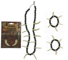 Saber Tooth Jewelry for Caveman and Cavewoman - Necklace Earrings Bracelets fnt