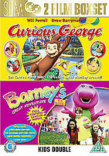 Curious George/Barney's Great Adventure - The Movie 2-Disc Dvd New & Sealed