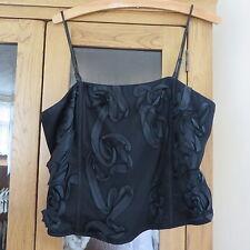 Per Una ''Basque'' top Black size 10 Immaculate