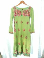 Womens Generation Cottage BOHO Mexican Embroidered Dress Size 10 S/M