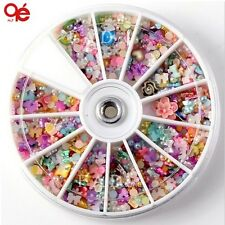 Big 3D Nail ongles nagel Art Decoration Tools Sticker wheel bow flower