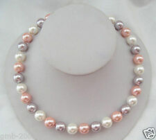 Genuine AAA 10mm Multicolor South Sea Akoya Shell Pearl Necklace 18""