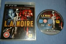 L.A. Noire The Complete Edition (Sony PlayStation 3) Boxed. GC. Free P+P.