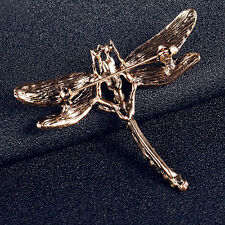 WOMEN'S VINTAGE NOBLE DRAGONFLY CRYSTAL SCARF PIN BROOCHES JEWELRY FIRST-RATE